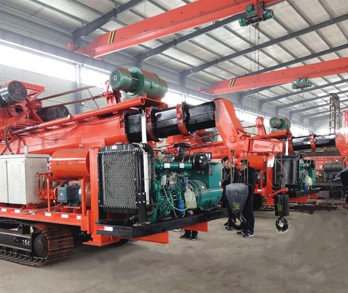 上海10寸履带式正反循环钻机 钻孔,下笼,灌灰