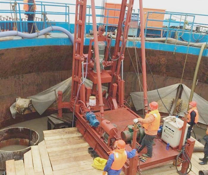 海上风力发电打桩机